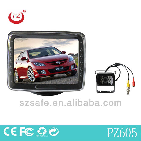 3.5inch lcd monitor bus truck video parking sensor with night vision camera heavy duty