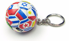 Soccer Ball PVC Keychain Promotion Item For World Cup