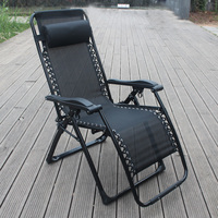 Square tube folding zero gravity chair