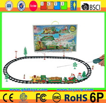 RC Racing Track with Train Head race track with rc car with light music electric toy race track