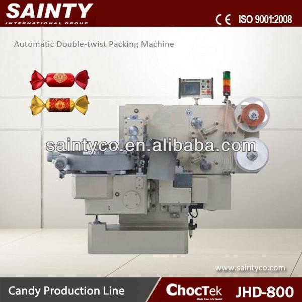 Clear Lollipop Packer JHD800 Automatic Chocolate Twist- Packing Machine