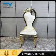 Cheap wholesale furniture gold chair long legs dining chair for hotel CY014