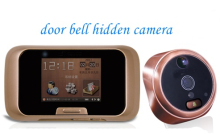 Movement detecting digital peephole High Definition Night Vision door viewer