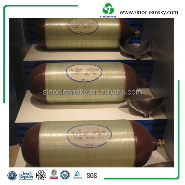 CNG Composite Cylinder Type 2 Cylinder, 356mm Diameter Cylinder for Vehicle