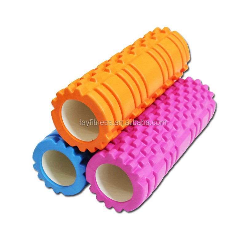 EVA balance hollow yoga roller ABS Tube fitness equipment yoga grid foam roller