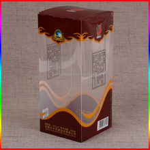 alcoholic beverage PVC display plastic packaging box