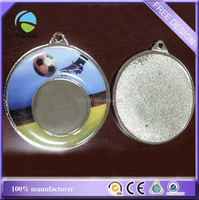 custom football dome epoxy blank frame metal sports medal pendant
