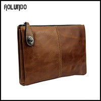 Tanned Leather Clutch Bag Tablet Sleeve