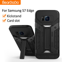 Latest design kickstand card holder for samsung s7 edge case galaxy