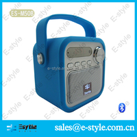 2014 new Alibaba manufacture colorful silicon cover portable bird bluetooth speaker with handle