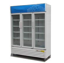 Commercial Fridge Beverage Showcase Cooler Glass Display Refrigerator Supermarket Equipment