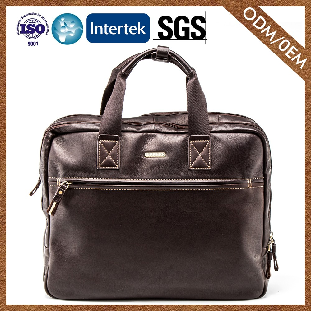 Supplier On Promotion Waterproof Man Briefcase Bag 100% Warranty Mens Leather Business Briefcase