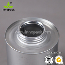 8oz/ 237ml empty metal tin cans paint cans Pvc adhesive Tins
