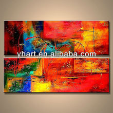 Wholesale Abstract Colorful Group Canvas Pop Art Oil Painting For Room