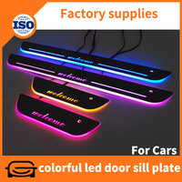 Car accessories made in china your car door sill design acrylic material with led light inside