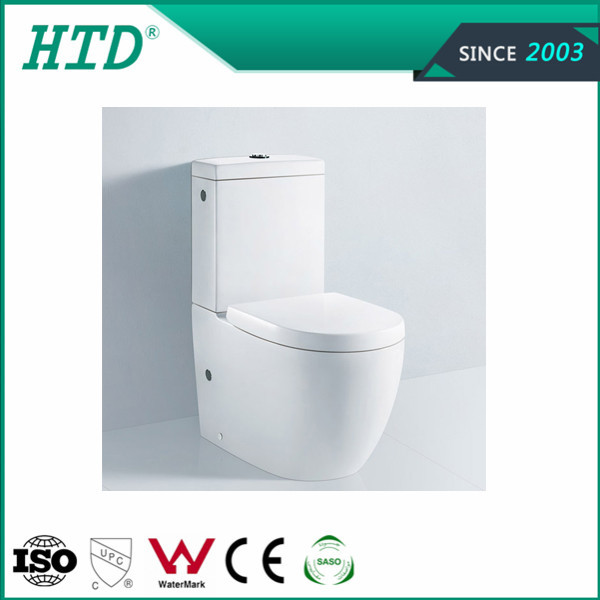 HTD-MA-9942 Ceramic washdown one piece water closet sitting wc toilet
