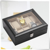 factory direct selling pu leather custom-made wooden box for watch case