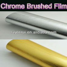 Self Adhesive Chrome Brushed Car Sticker,Brushed Film For Auto Wrapping,Chrome Carbon Sheet Roll