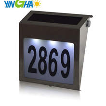 good quality solar number light address sign Doorplate lighting outdoor wall