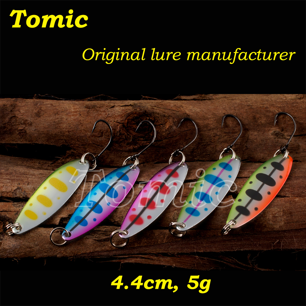 Spinner bait metal micro trout lures winter fishing spoon lure