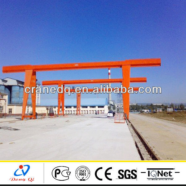 MG type double girder electric gantry crane name for mechanical workshop