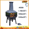 KIngjoy Popular patio steel chimenea/fireplace