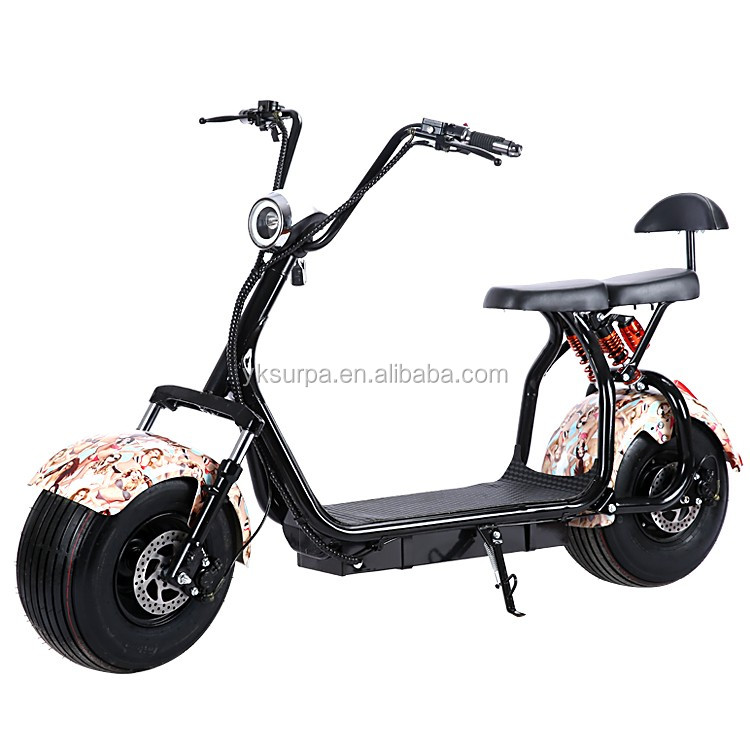 18*9.5inch 60v 800w1000w harley popular adults off road electric scooter/fat boy electric motorcycle