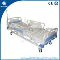 BT-AM111 parts/ Hospital Crib 3 Functions , ABS Headboard Manual Hospital Antique Iron Bed
