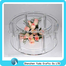 acrylic tube cake stand acrylic single tier wedding cake stand for big cake