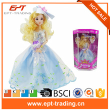 Plastic toy 11.5 inch dress up dolls for girls fashion doll
