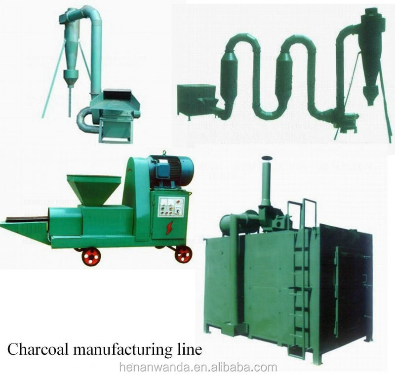 1ton day mini fuel biomass briqutte making production machine/wood charcoal making machine