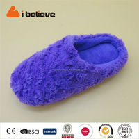 Bent soft woolen cheap wholesale customized chinese lady slippers shoes