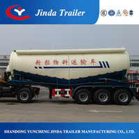 China Top Ranking V Shape Bulk Cement Tank Semi Trailer with air compressor and desiel engine