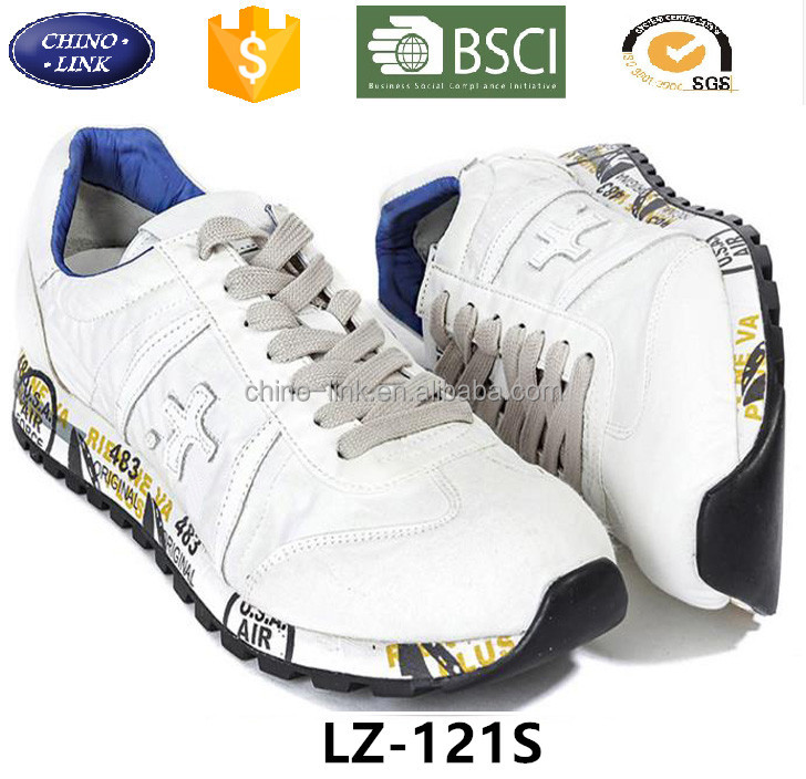 white Breathable light footwear Italy brand sport running sneakers Shoes 2016 Lace-Up men comfortable hot sell casual shoe