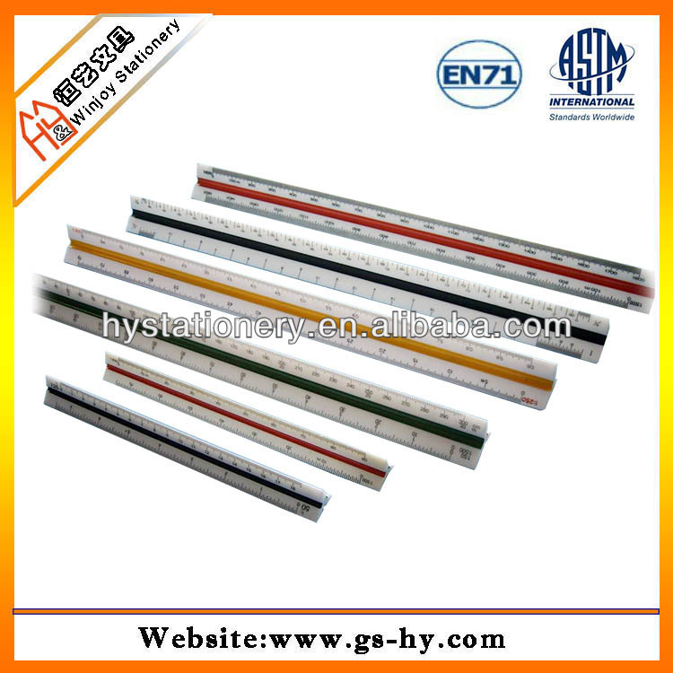 Shenzhen Export Plastic scale ruler,triangular scale ruler
