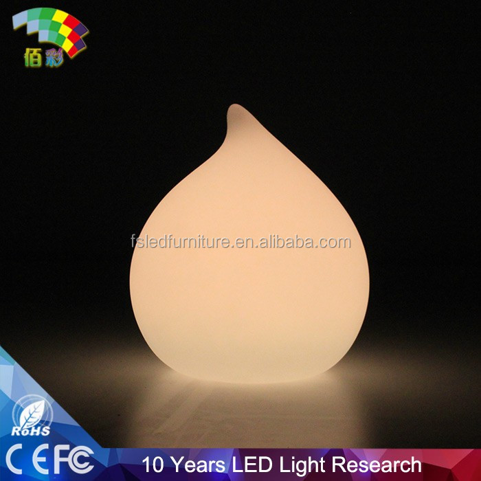 Peach shaped make clear glowing wireless LED light table lamp