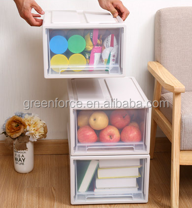 Stackable Home/Kitchen/Office Storage Boxes clear Plastic Shoe Boxes organiser Drawer