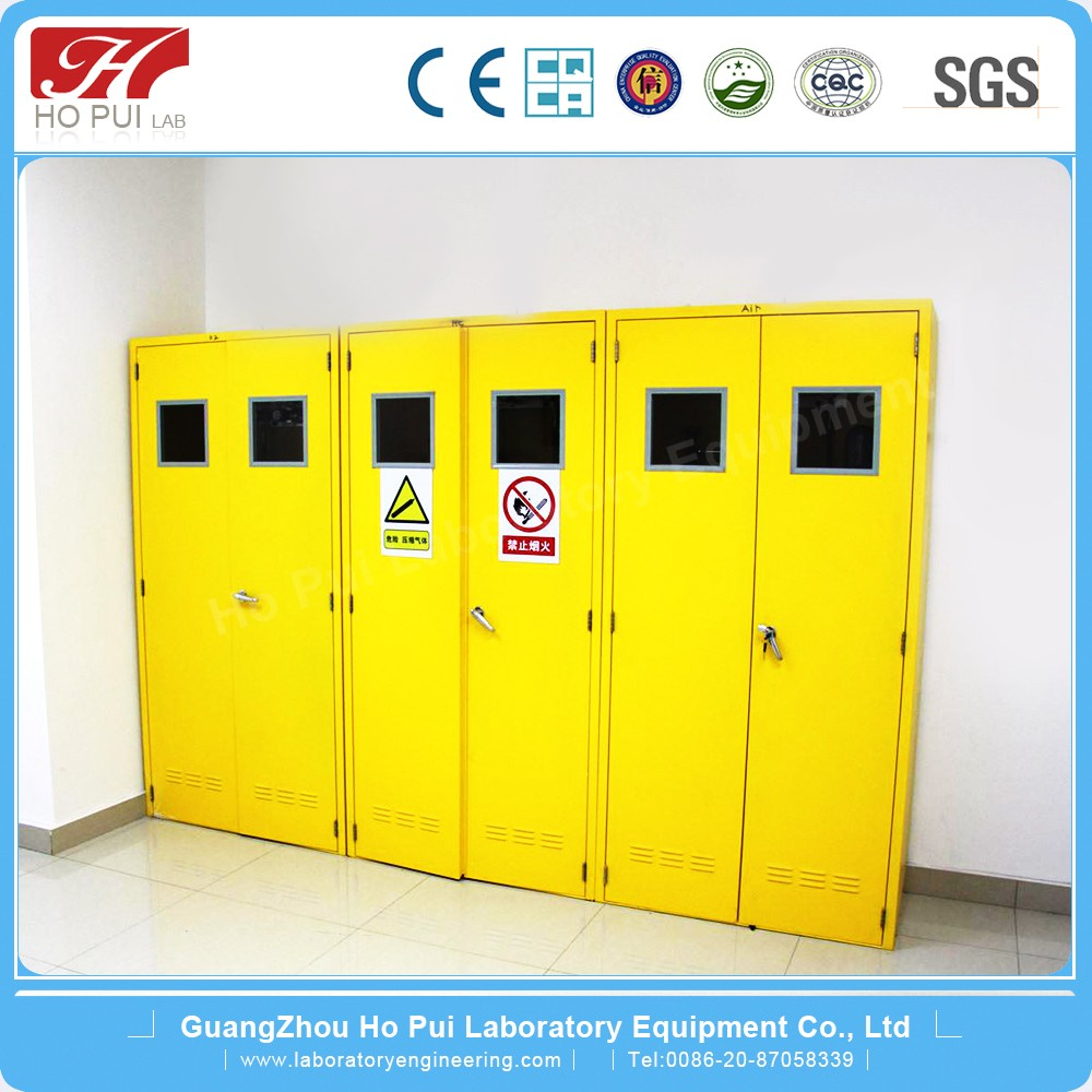 Laboratory Equipment Laboratory Gas Cylinder Storage Cabinet With Alarm  Systerm