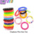 Cute telephone wire hair plastic hair ties with good quality