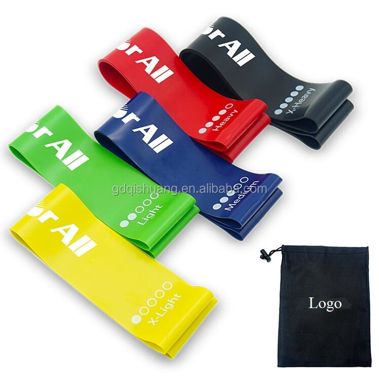 Amazon Hot Selling 5 levels Latex Exercsie Bands,Resistance Bands for ABS,Yoga,Pilates workout