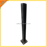 flanged steel fence post