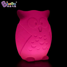 Color change LED light inflatable owl cartoon balloon with PE materials