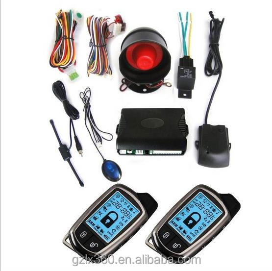 two way LCD car alarm system Universal Control long distance two way car alarm with automatic re-arm