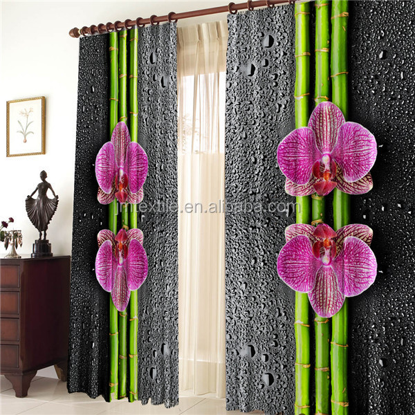 3DP CUR006 3D coreposis butterfly printing curtain
