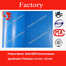 high quality HDPE blue film