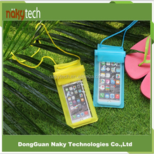 Wholesale PVC portable outdoor transparent Water/dust proof mobile/cell phone/camera bag/case
