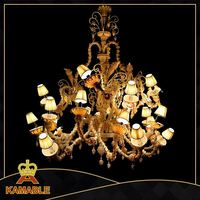 High Quality Modern Glass Chandelier Pendant Lamp For Hotel Project