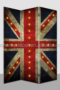 UK style decoration room divider, light up canvas screen