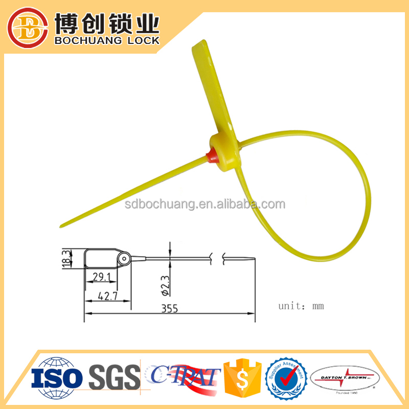 Self locking plastic seal container secur seal