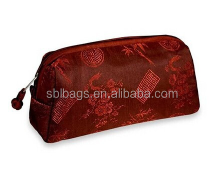 Silk Jacquard Cosmetic Bag pouch & Shanghai style cosmetic bag pouch online & thai silk cometic bag
